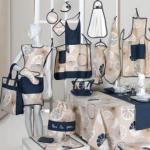 FIRENZE ARREDO - Tovaglia Design 180x220 + borsa spesa - blu