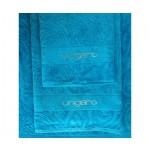 UNGARO -  DIAMANTE - coppia asciugamani - variante azzurro 215