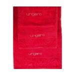 UNGARO -  DIAMANTE - coppia asciugamani - variante rosso 606