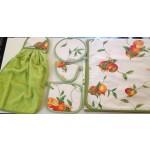 FIRENZE ARREDO - Tovaglia Arance 140x180 + asciughino e presine - variante verde