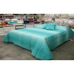 PROMOZIONE - BORBONESE Quilt  Summer OP - Smeraldo  + Cuscino 60x60 Summer OP Smeraldo in OMAGGIO