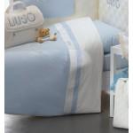 LIU JO BABY - LIU -  Completo 4pz.Culla/Carrozzina - variante avorio/azzurro