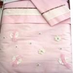LIU JO BABY - VIE EN ROSE -  Completo 4pz.Culla/Carrozzina - variante rosa/avorio