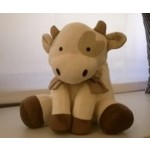MARYPLAID -  Mucca - pupazzo con copertina per culla/carrozzina