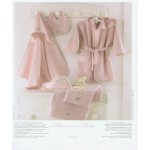 BLUMARINE BABY - QUADRIFOGLIO SPUGNA - set coppia 1 + 1 -  variante rosa