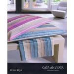 CASA ANVERSA - COMPLETO LENZUOLA RIMINI RIGA - VARIANTE MALVA - una piazza