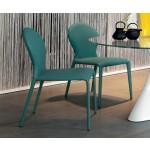 TONIN - sedie Round - turchese