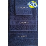 SUPER OFFERTA - UNGARO - TELO BAGNO DIAMANTE + coppia asciugamani - blu