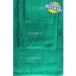 SUPER OFFERTA - UNGARO - TELO BAGNO DIAMANTE + coppia asciugamani - smeraldo