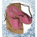 Borbonese - ciabatte viaggi in spugna rosa - tg. 35/39
